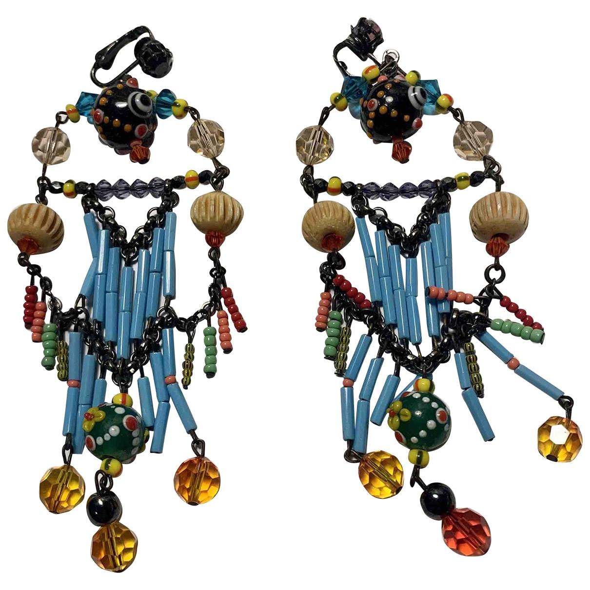 Erickson Beamon - Boucles doreilles   pour femme en cristal - metallise