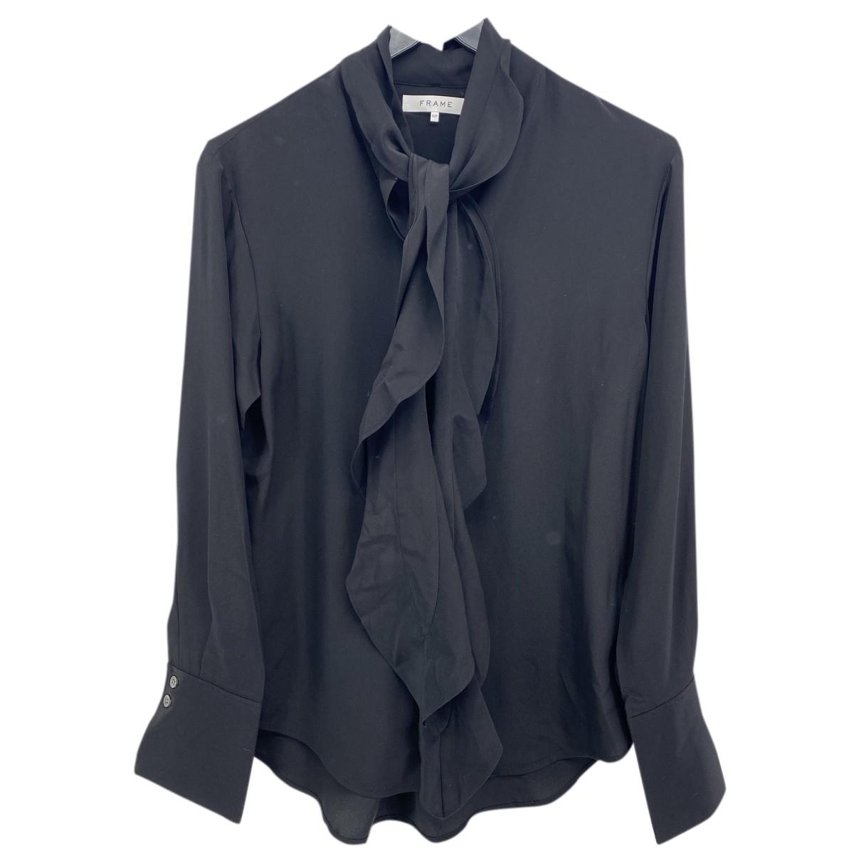 Frame Denim - Top   pour femme en soie - noir