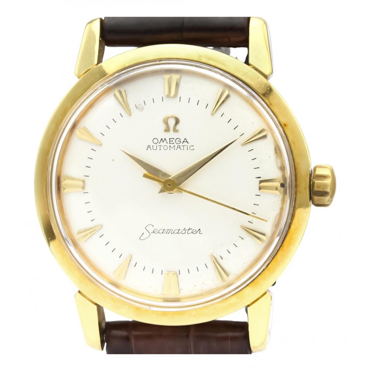 Omega Seamaster Uhr in  Silber Gelbgold