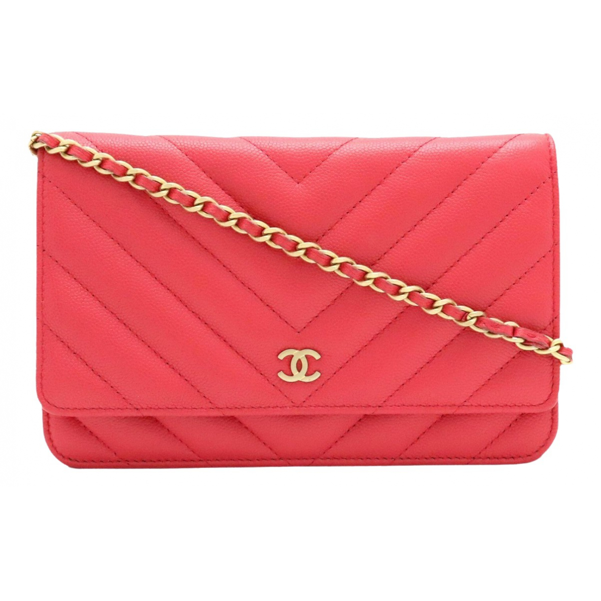 Chanel Wallet on Chain Pink Leather Clutch bag for Women \N