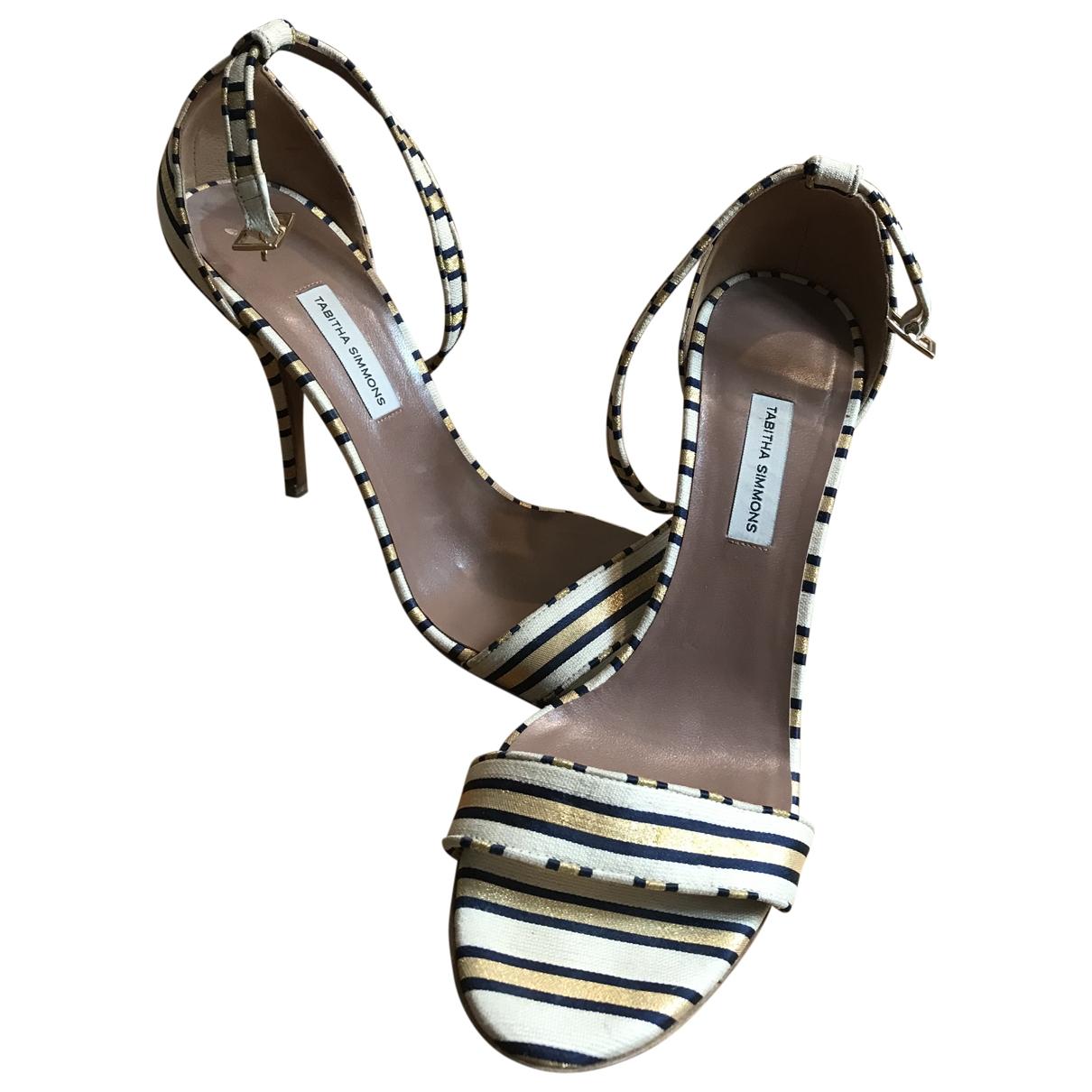 Tabitha Simmons \N Gold Cloth Sandals for Women 40 EU