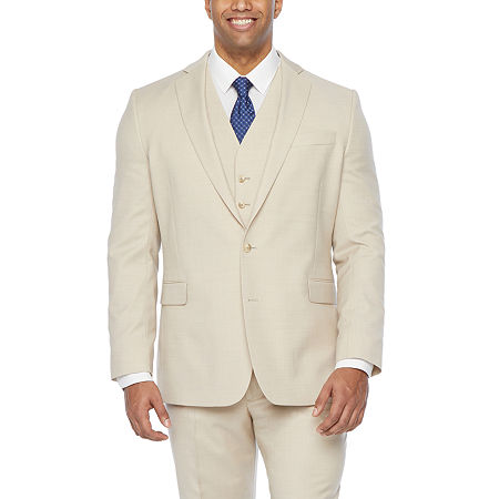 Stafford Super Stretch Classic Fit Suit Jacket, 46 Regular, Beige