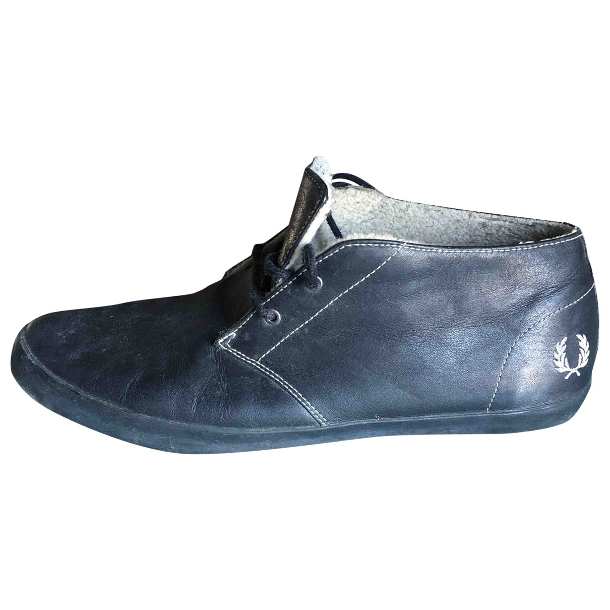 Fred Perry \N Black Leather Trainers for Men 45 EU