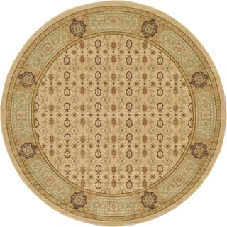 Unique Loom Jefferson Palace Area Rug (8' x 8' Round - Red)