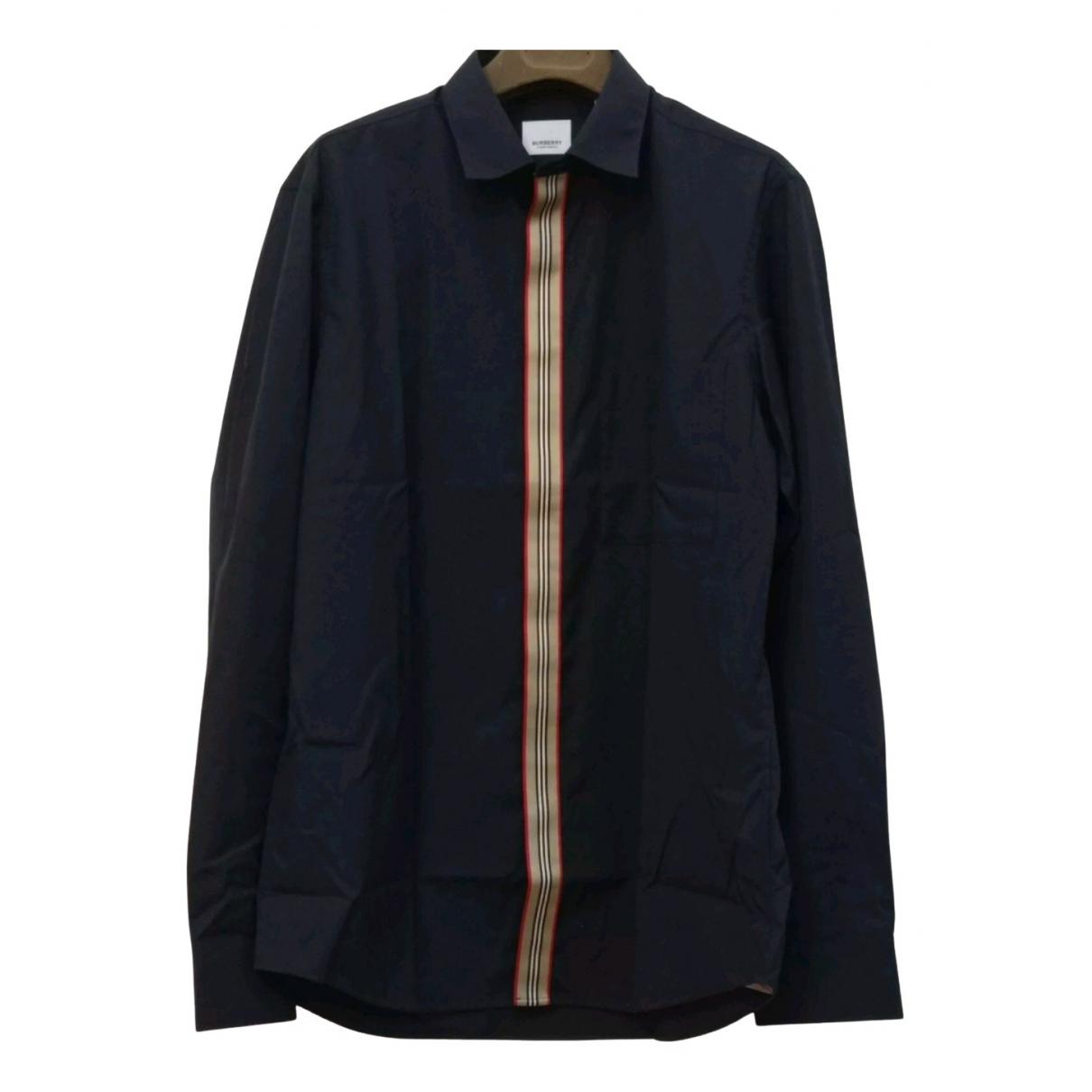 Burberry N Blue Cotton Shirts for Men M International