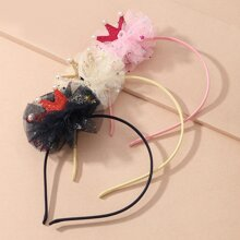 3 piezas aro de pelo de niñitas con malla
