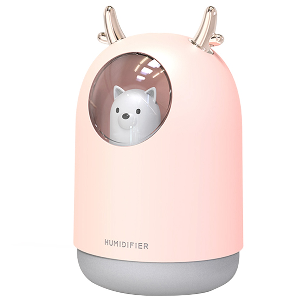 Desktop Humidifier 300ML USB Charging Mini Portable Aromatherapy Machine - Pink