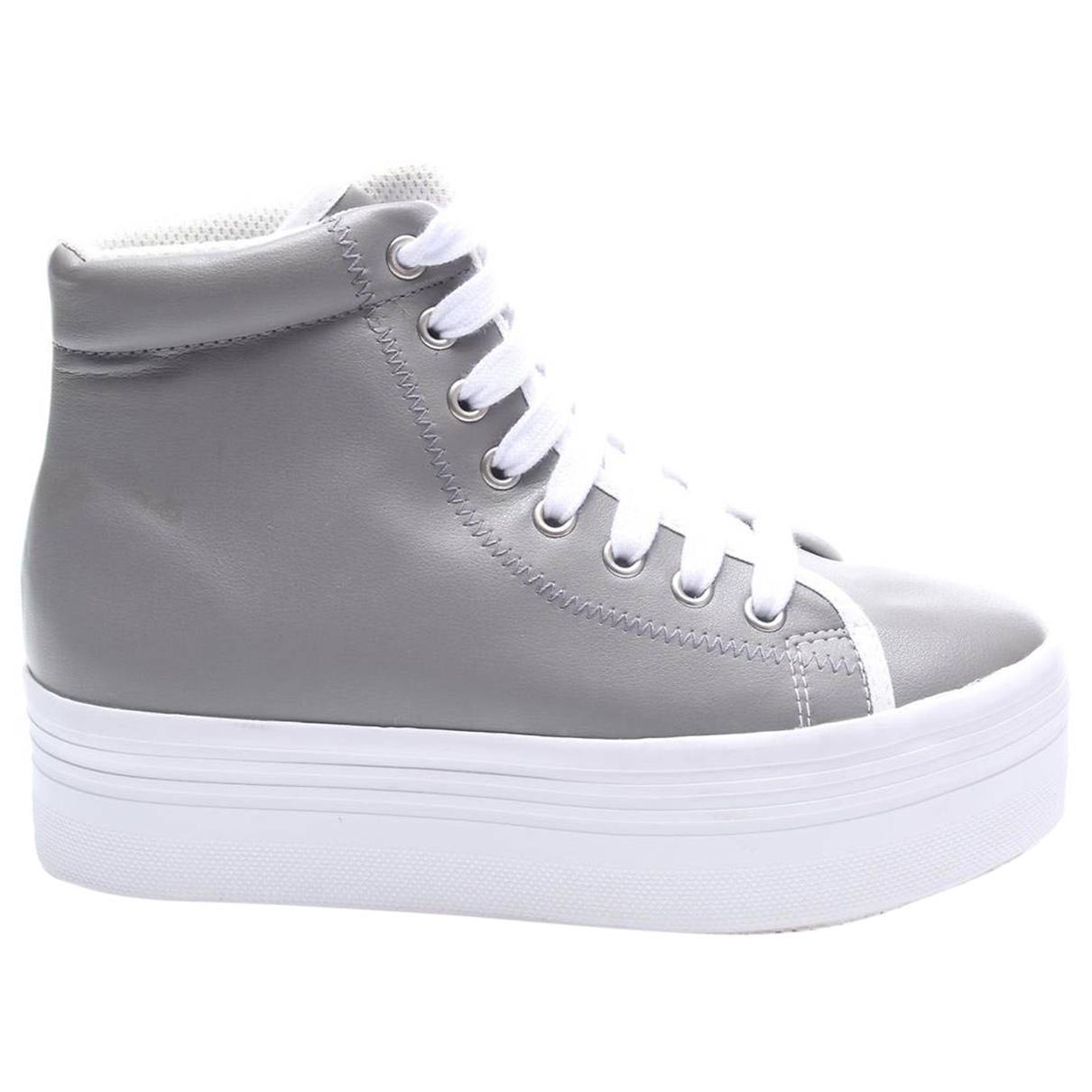 Jeffrey Campbell \N Sneakers in  Grau Leder