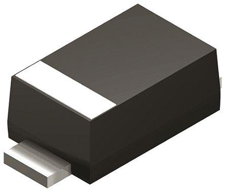 DiodesZetex Diodes Inc, 3.3V Zener Diode 5% 500 mW SMT 2-Pin SOD-123 (200)