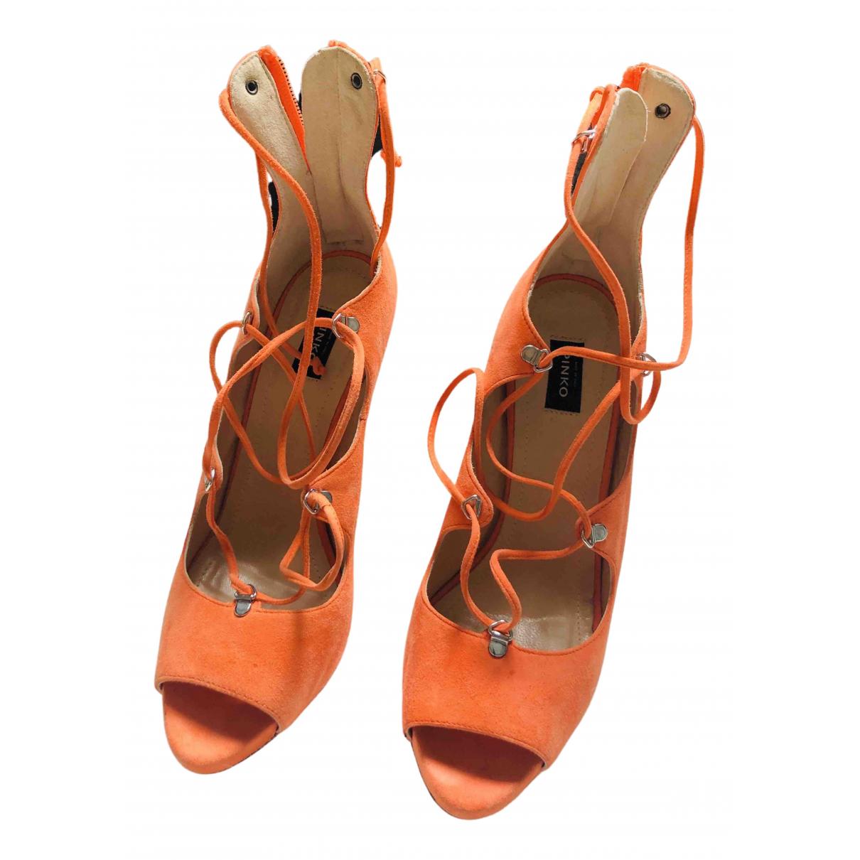 Pinko \N Orange Suede Sandals for Women 39 EU