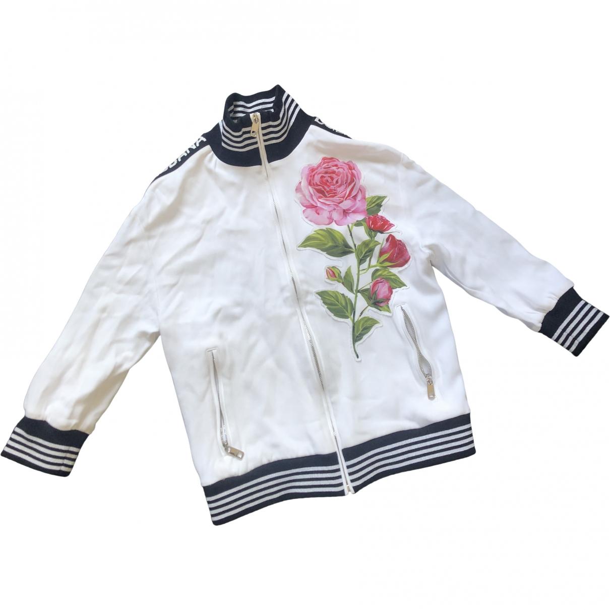 Dolce & Gabbana \N White Wool jacket for Women 36 IT