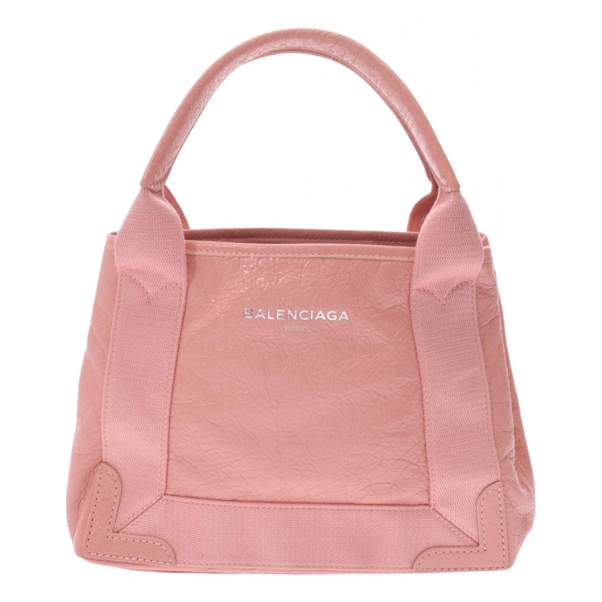 Balenciaga - Sac a main Navy cabas pour femme en cuir - rose