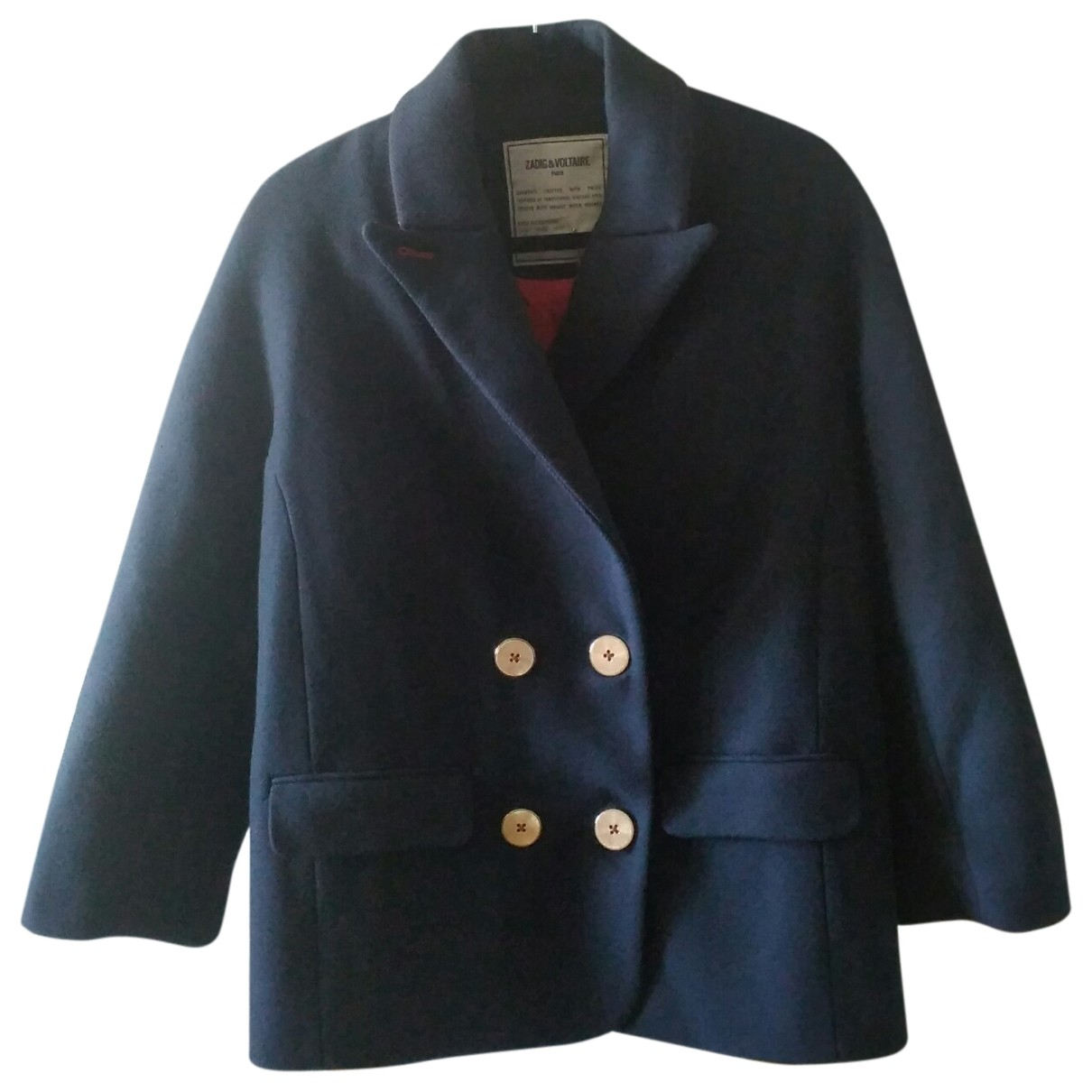 Zadig & Voltaire N Navy Wool coat for Women 34 FR