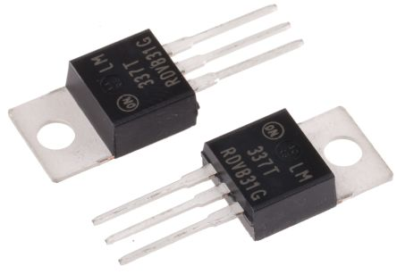 ON Semiconductor , -37 → -1.2 V Linear Voltage Regulator, 1.5A, 1-Channel Negative, Adjustable 3-Pin, TO-220 (10)