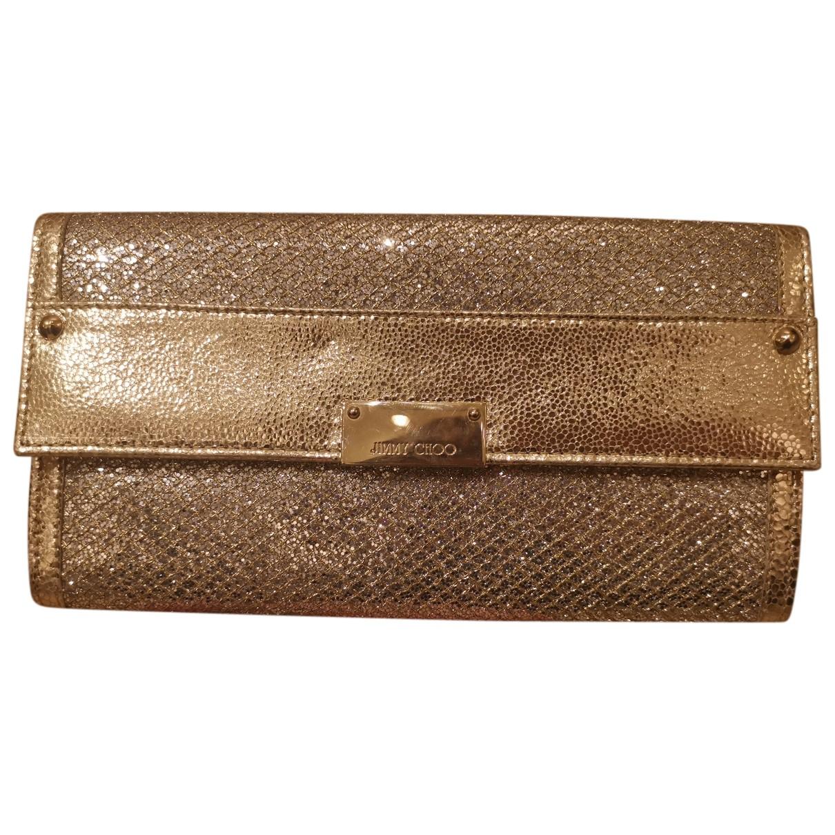 Jimmy Choo N Gold Glitter Clutch bag for Women N