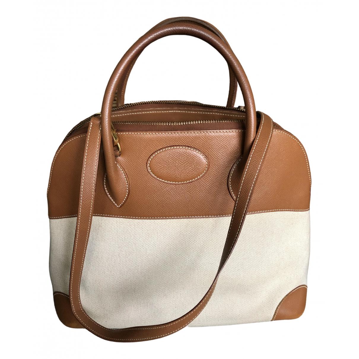Unuetzer \N Handtasche in  Beige Leinen