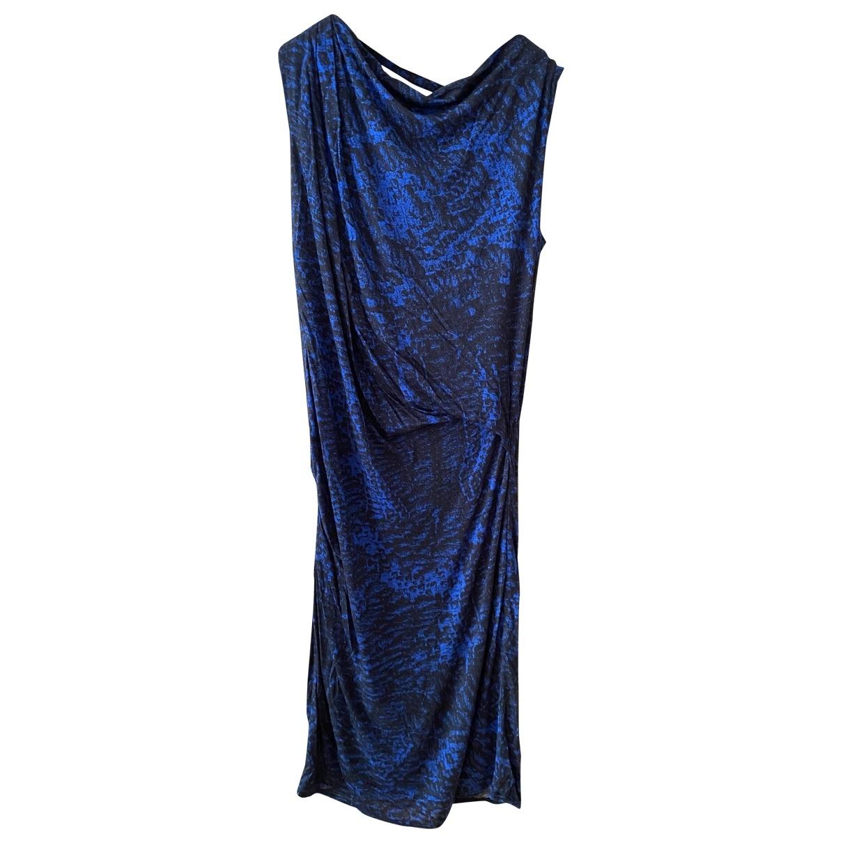 Helmut Lang \N Kleid in  Blau Viskose