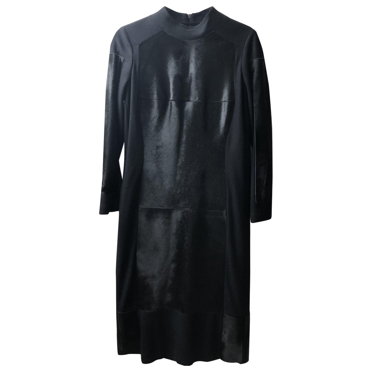 Nicole Farhi \N Black Leather dress for Women 8 UK