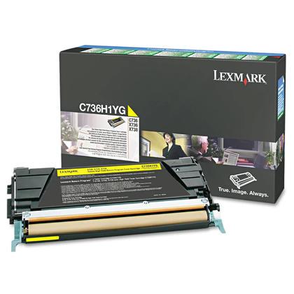 Lexmark C736H1YG cartouche de toner du programme retour originale jaune haute capacité