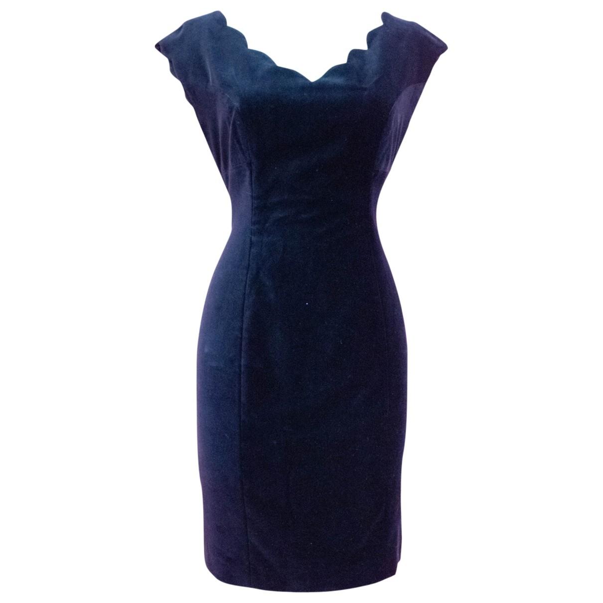 Non Signé / Unsigned \N Black Velvet dress for Women 12 UK