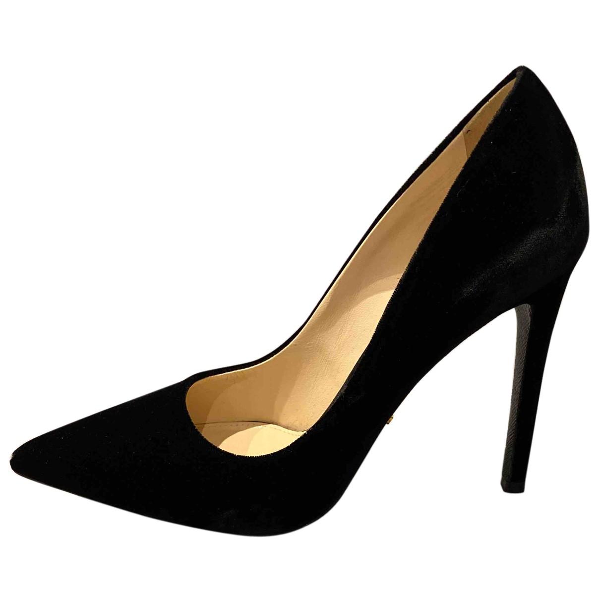 Prada - Escarpins   pour femme en velours - noir