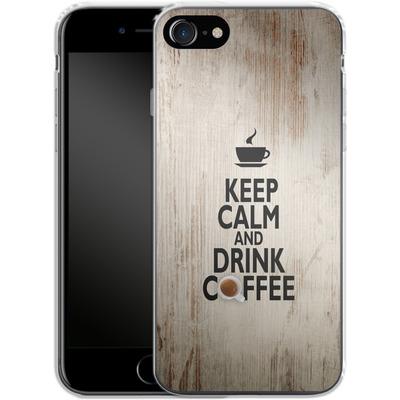 Apple iPhone 7 Silikon Handyhuelle - Drink Coffee von caseable Designs