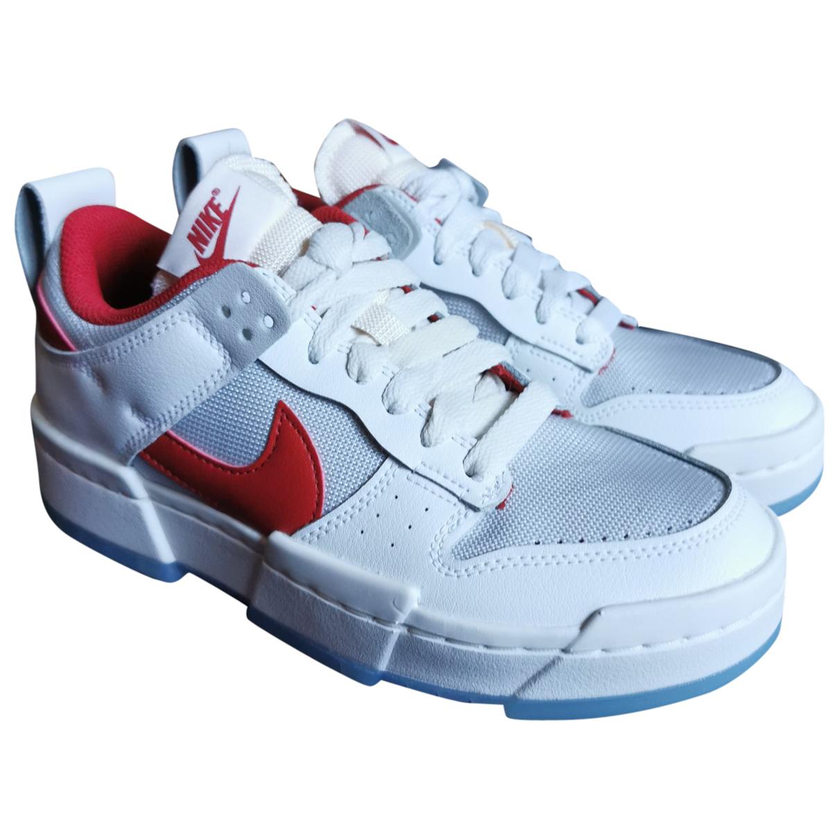 Nike SB Dunk  White Leather Trainers for Women 37.5 EU