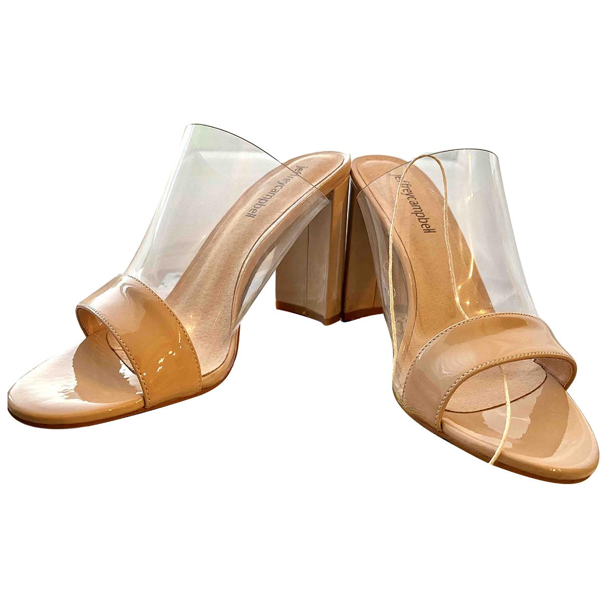 Jeffrey Campbell - Sandales   pour femme en cuir - beige
