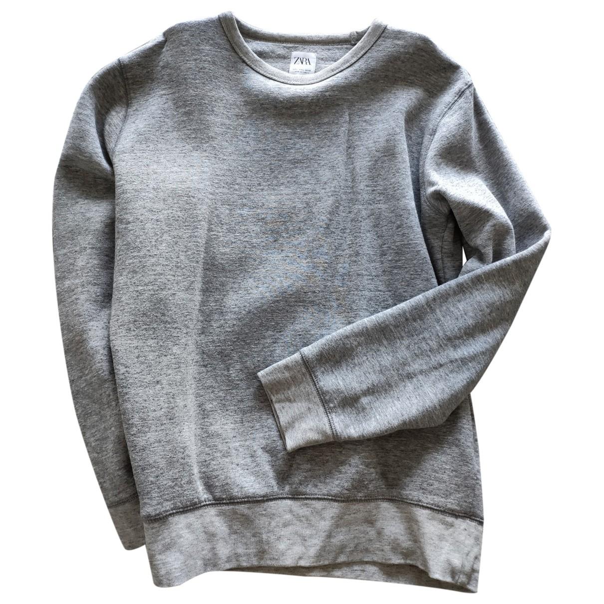 Zara - Pulls.Gilets.Sweats   pour homme en coton - gris