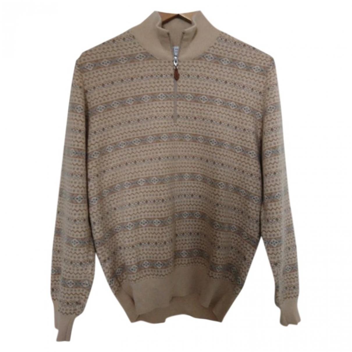 Brunello Cucinelli \N Beige Cashmere Knitwear & Sweatshirts for Men S International