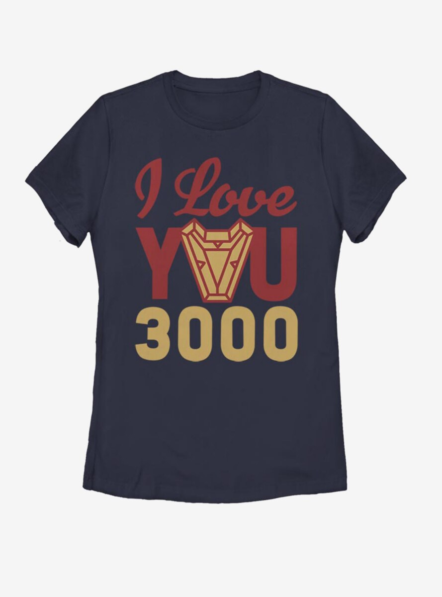 Marvel Iron Man Love You 3000 Arc Reactor Womens T-Shirt