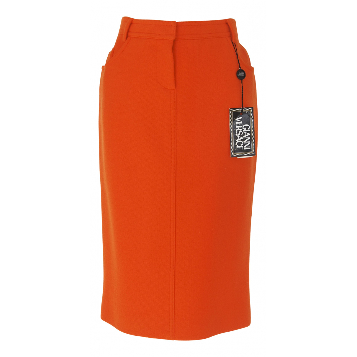 Gianni Versace \N Orange Wool skirt for Women 42 IT