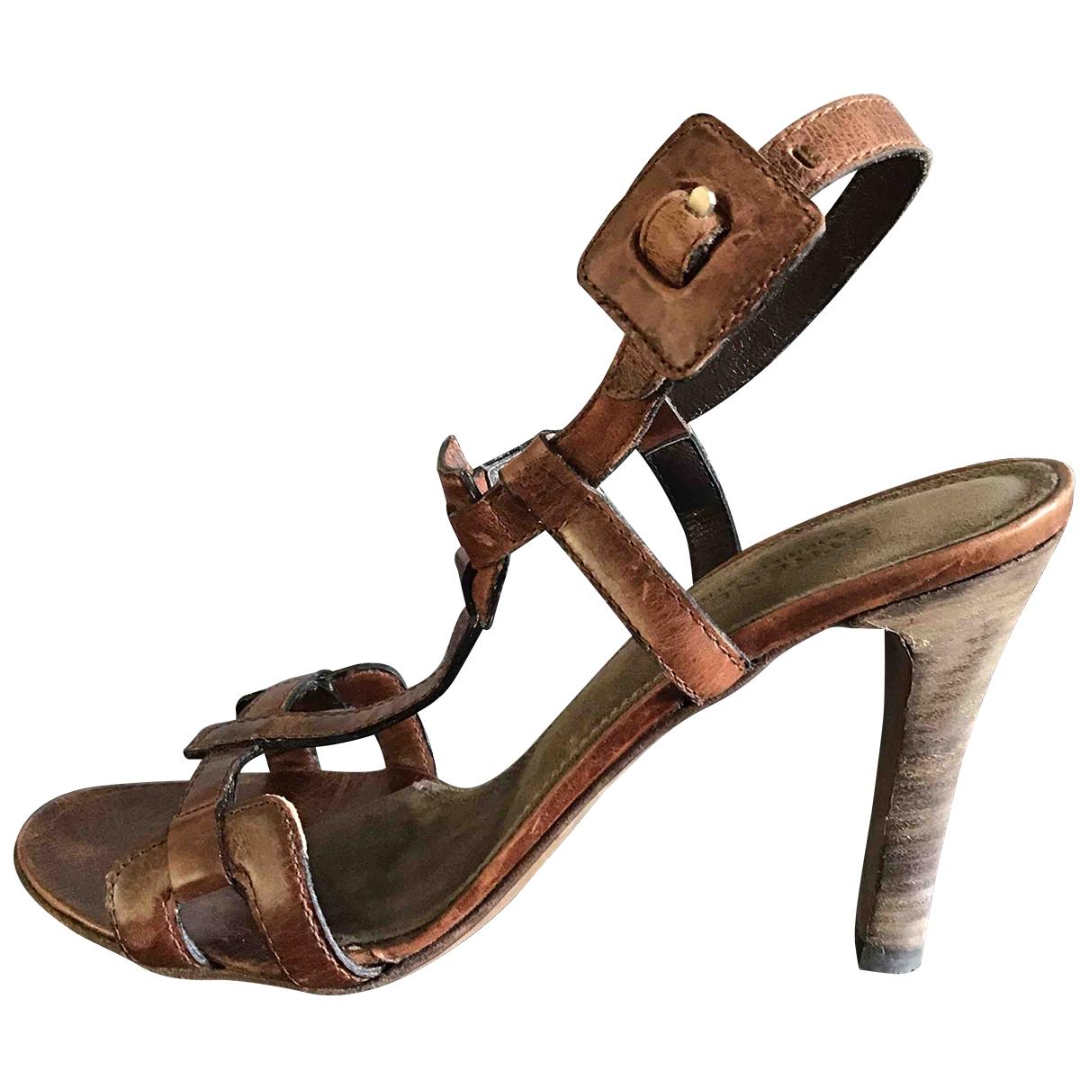 Strenesse - Sandales   pour femme en cuir - marron