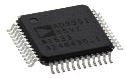 Analog Devices AD9951YSVZ, Direct Digital Synthesizer 14 bit-Bit 400000ksps, 48-Pin TQFP