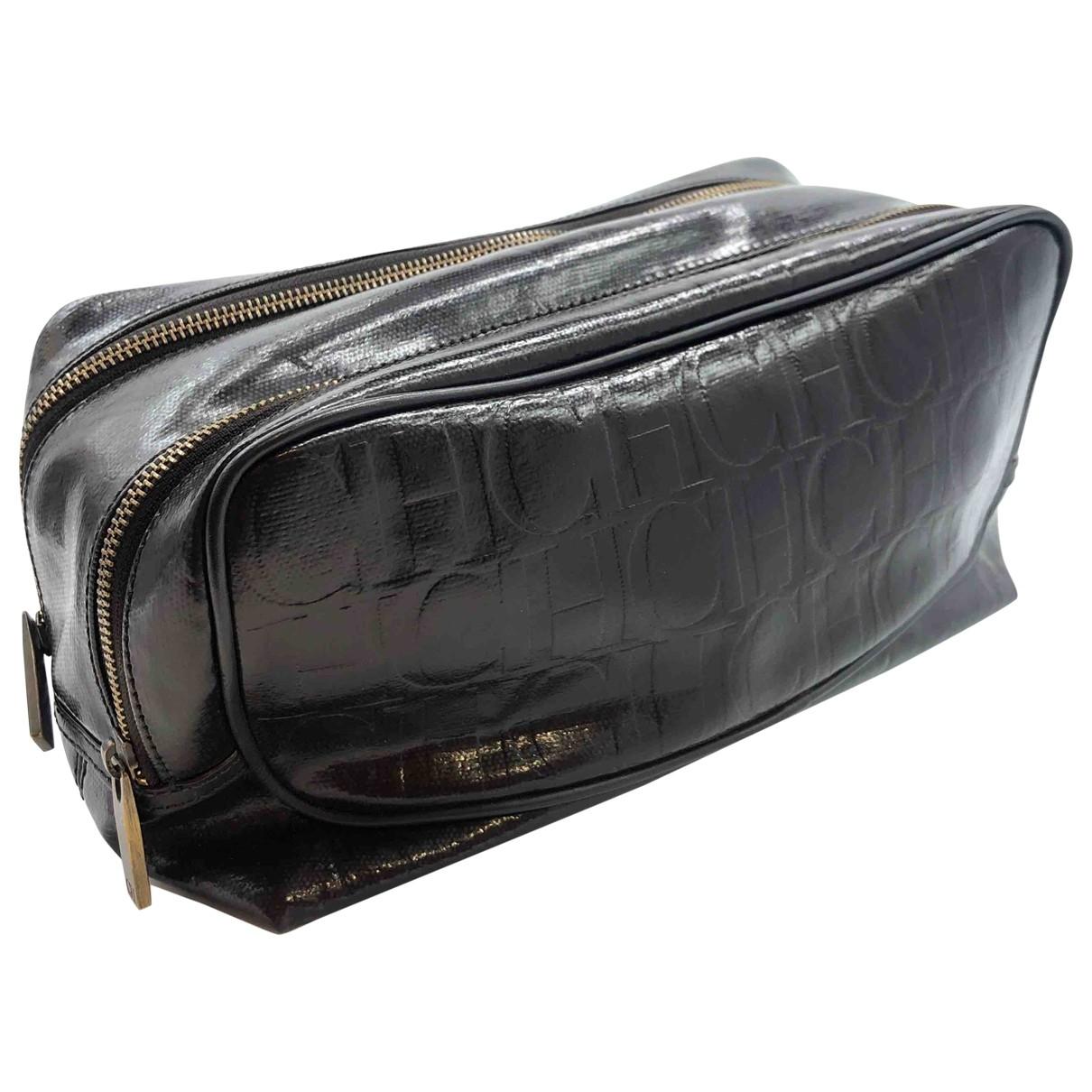 Carolina Herrera \N Brown Patent leather Small bag, wallet & cases for Men \N