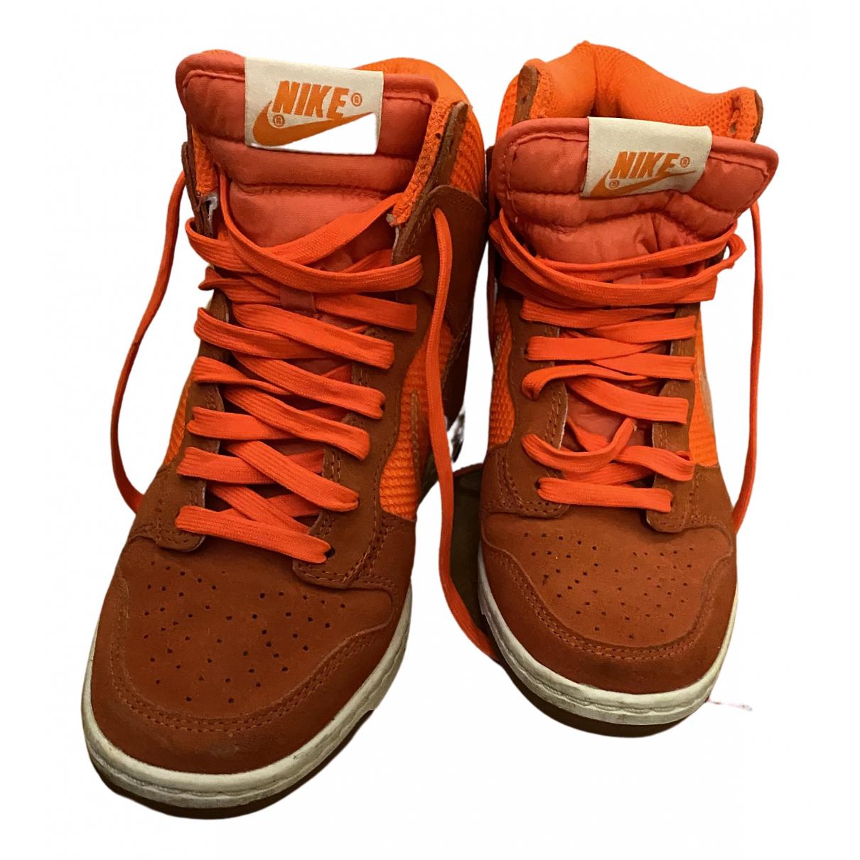Nike \N Sneakers in  Orange Leinen