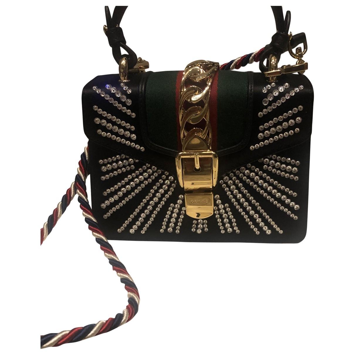 Gucci Sylvie Black Cloth handbag for Women \N