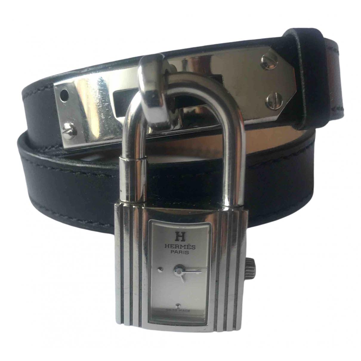 Hermes Kelly Uhr in  Schwarz Stahl