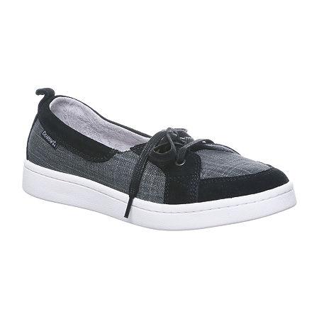 Bearpaw Womens Wilde Round Toe Slip-On Shoe, 7 1/2 Medium, Black
