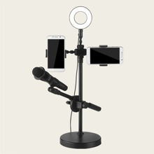 1pc Phone Live Holder With Selfie Ring Light