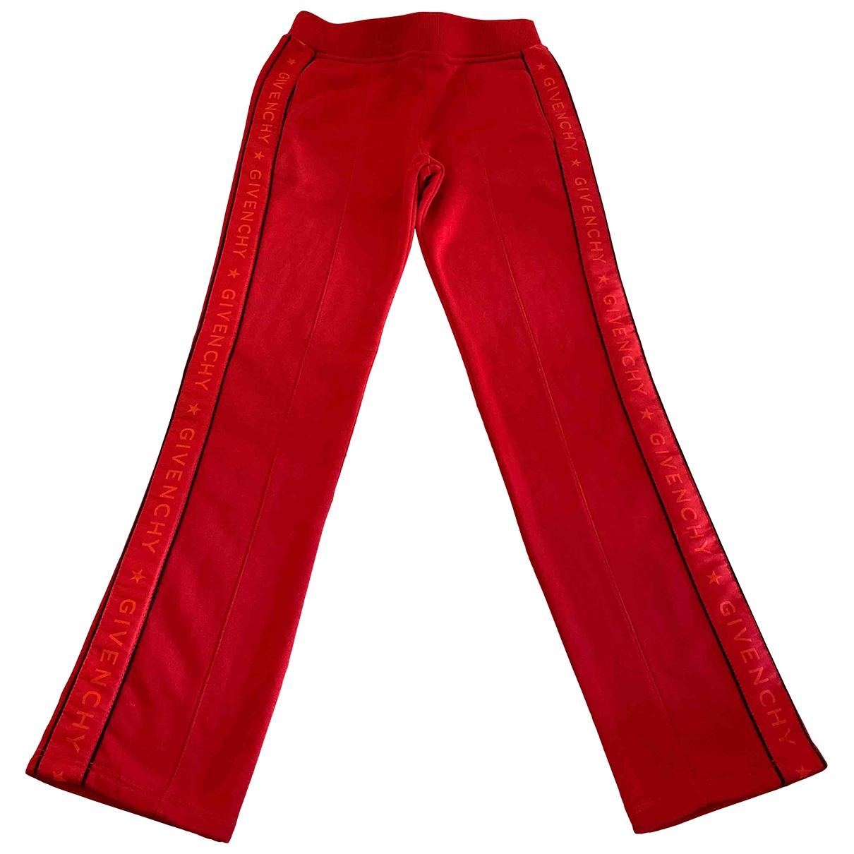 Givenchy - Pantalon   pour enfant en coton - rouge
