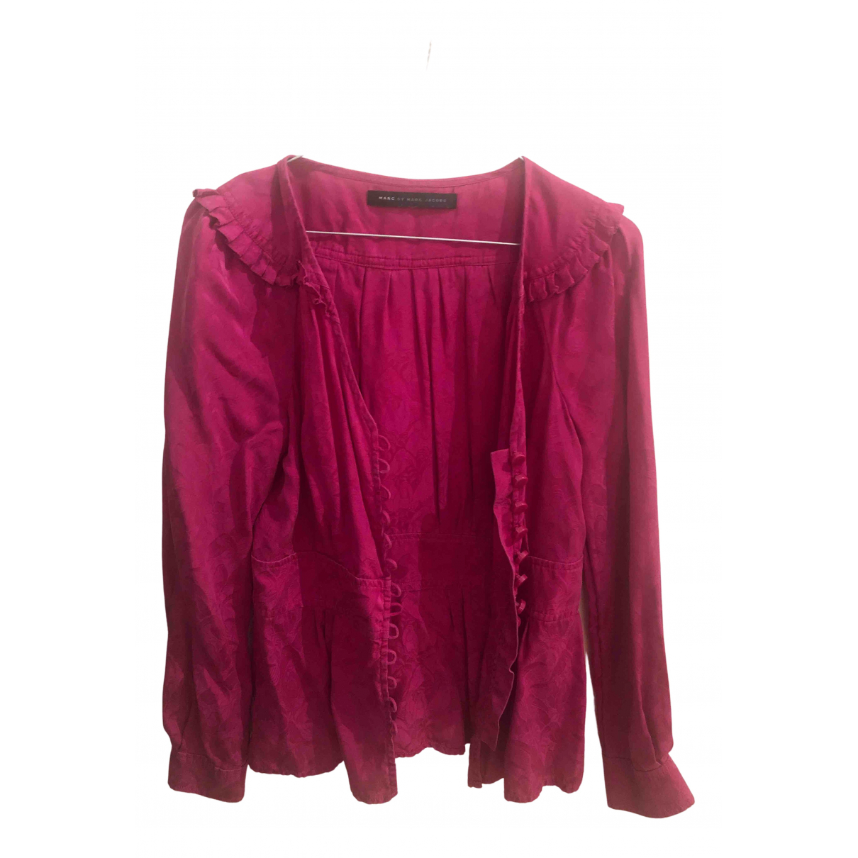 Marc By Marc Jacobs - Top   pour femme en soie - rose