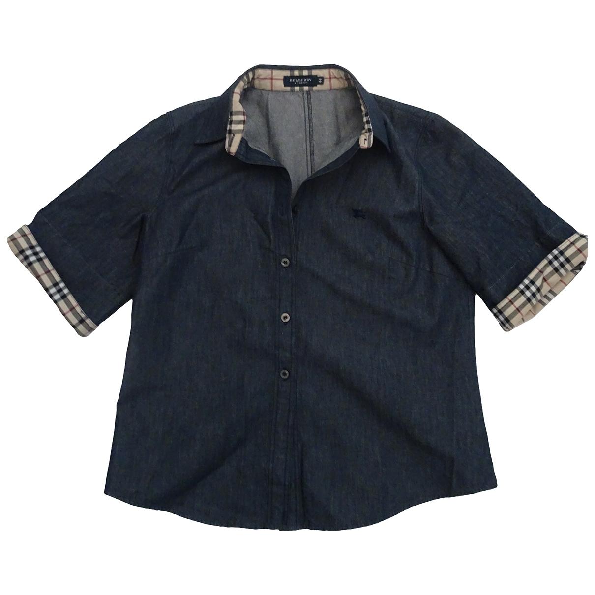 Burberry \N Top in  Blau Denim - Jeans