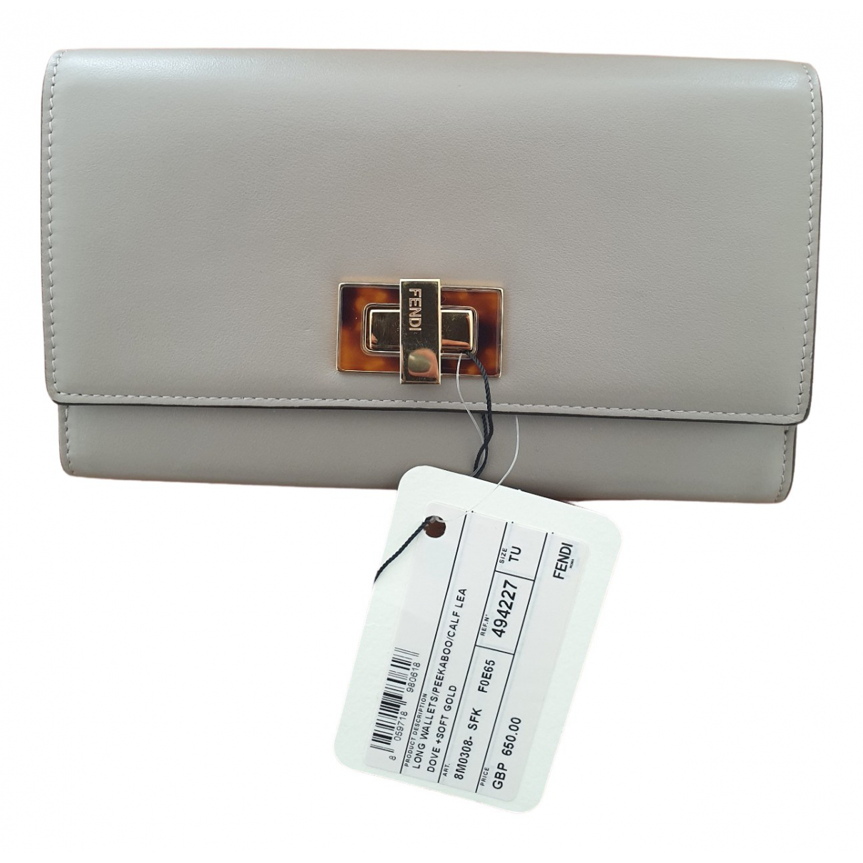 Fendi N Grey Leather wallet for Women N