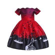 Abendkleid mit Halloween Muster