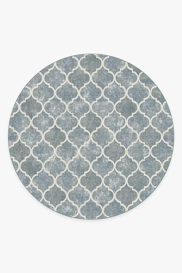 Washable Rug Cover & Pad | Terali Slate Rug | Stain-Resistant | Ruggable | 8' Round