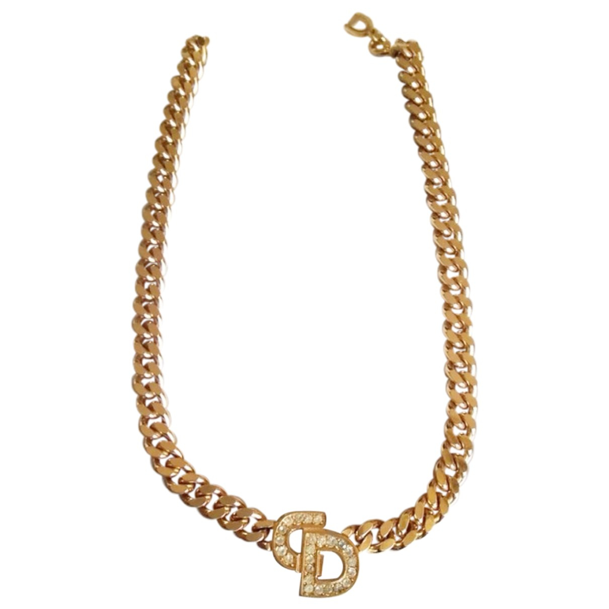 Dior Monogramme Kette in  Gold Metall