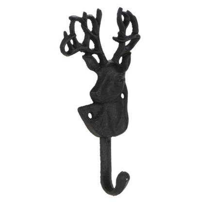 Black Metal Deer Wall Hook 3.5 x 1.5 x 7