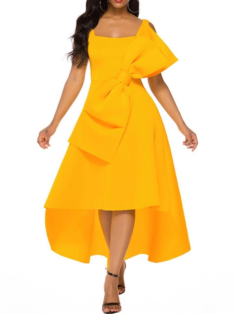 Ericdress Ankle-Length Sleeveless Square Neck Summer Pullover Dress