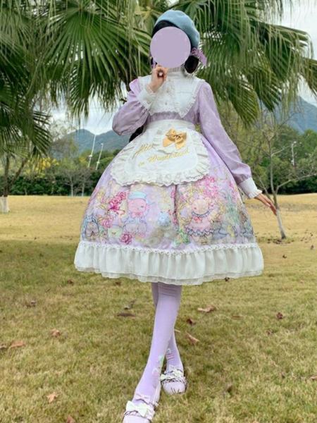 Milanoo Sweet Lolita OP Dress Magic Bear Lolita One Piece Dresses